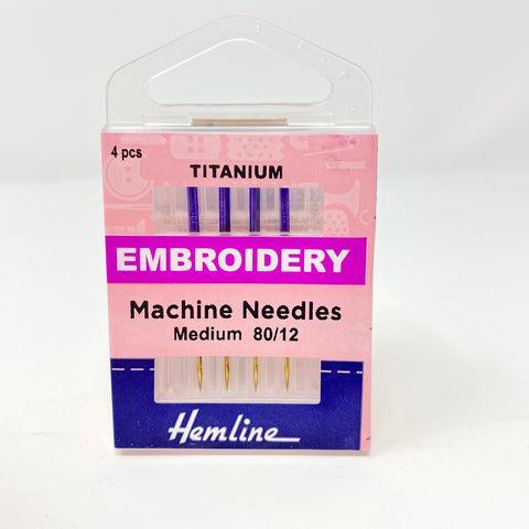Hemline - Machine Needles Embroidery 80/12