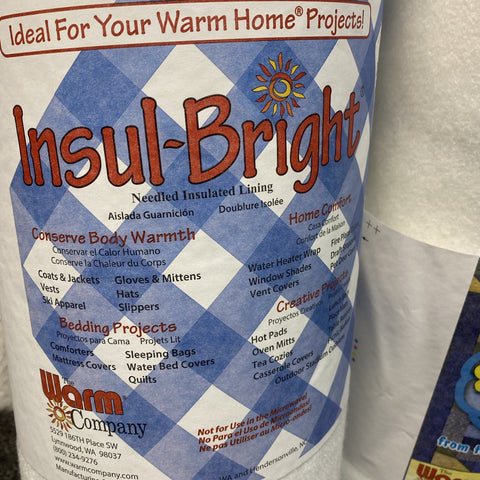 The Warm Company - Insul-Bright Needled Insulated Lining Wadding