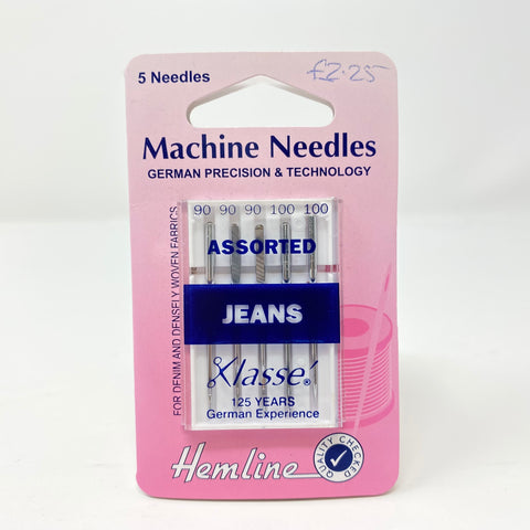 Hemline - Machine Needles Jeans Assorted 90 & 100