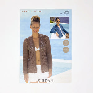 SIRDAR Crochet Cotton DK (7071) crochet jacket pattern