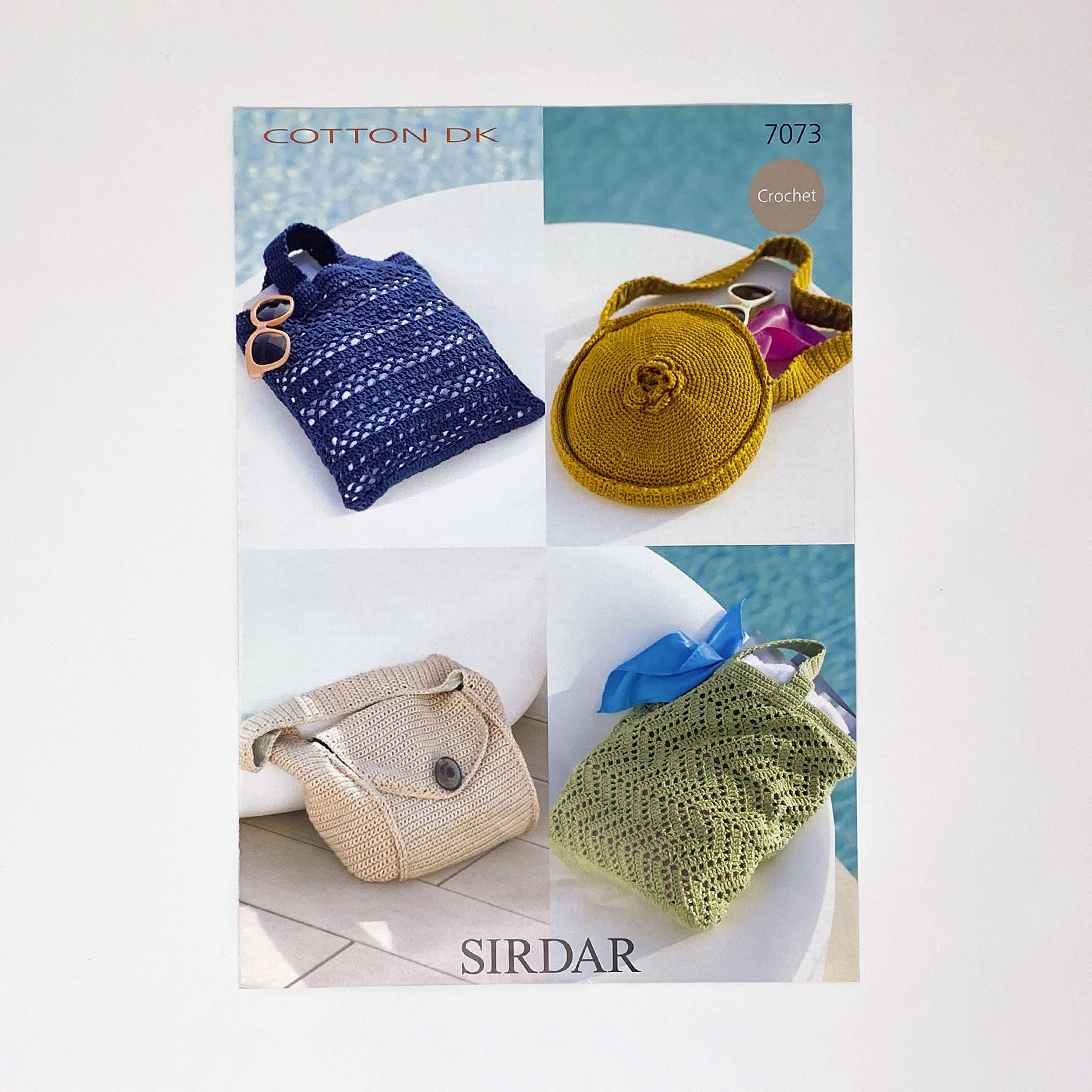 SIRDAR Crochet Cotton DK (7073) bag patterns