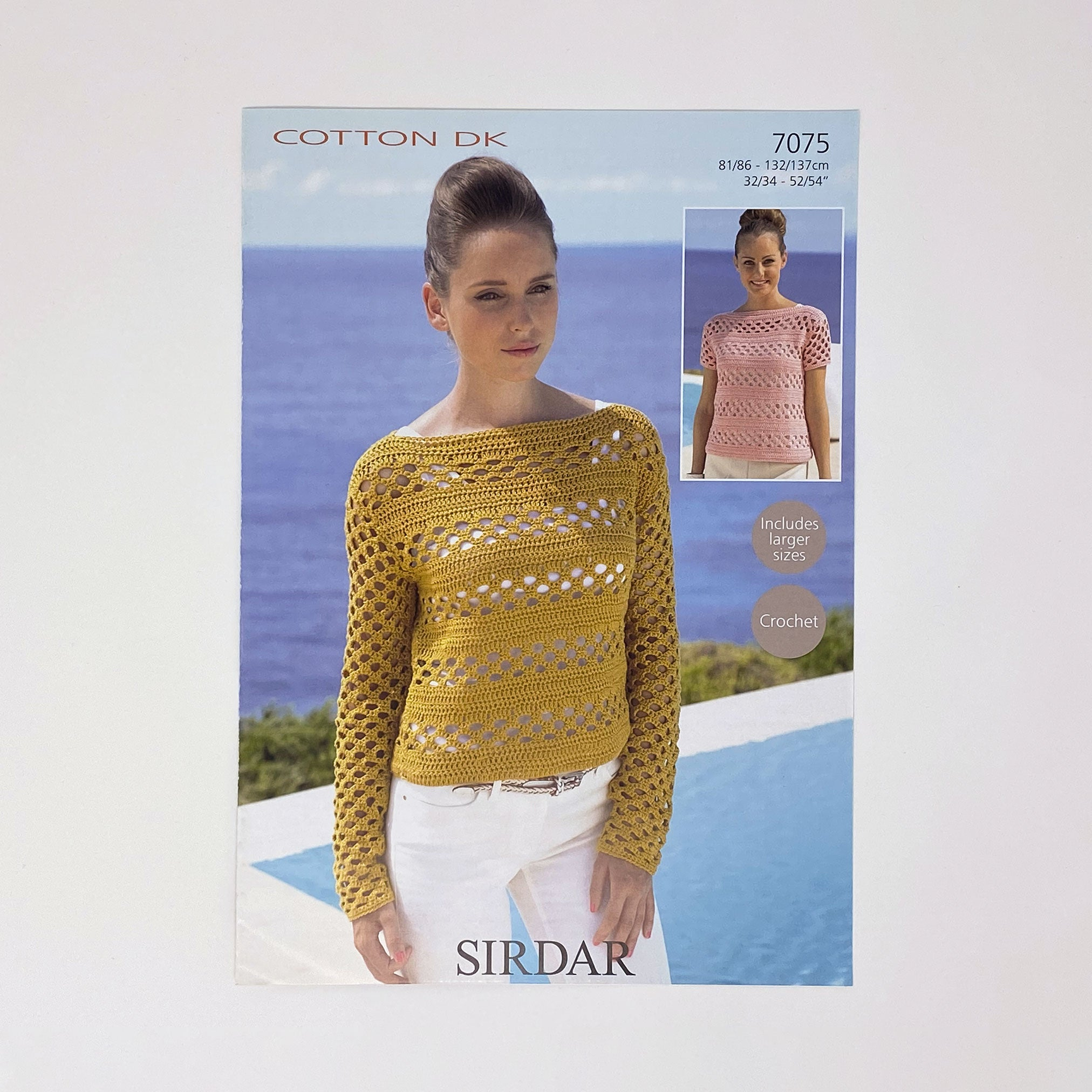 SIRDAR Crochet Cotton DK (7075) crochet sweater pattern