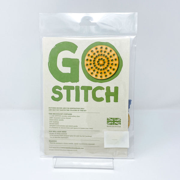 Hawthorn Go Stitch Stitch Brooch Kit back