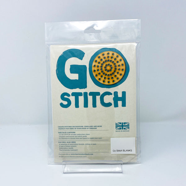 Hawthorn Go Stitch Embroidery Disc back