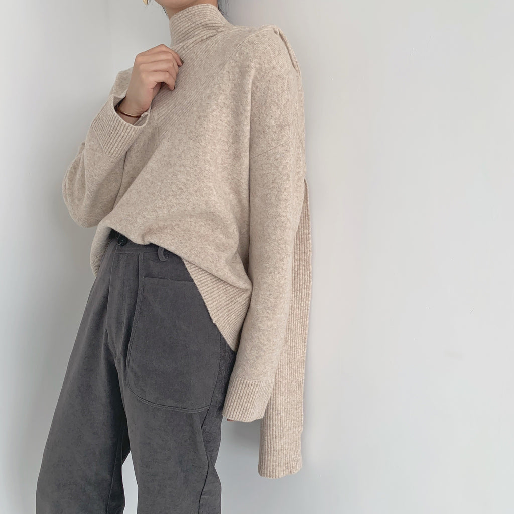 Cashmere Scarf Sweater- Marvous Wear