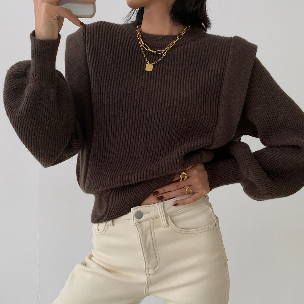 Bell Sleeve Sweater Top- Marvous Wear