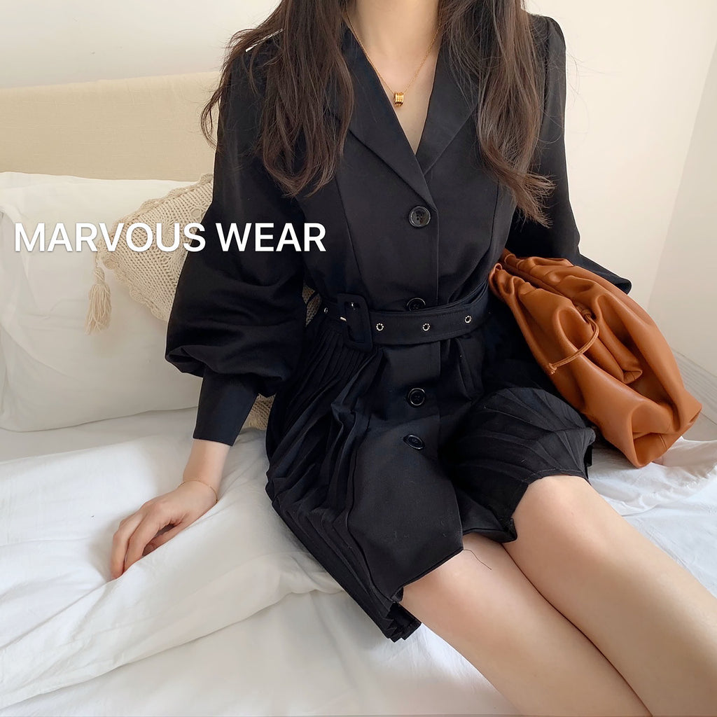 Mona Belt Dress-MARVOUS WEAR
