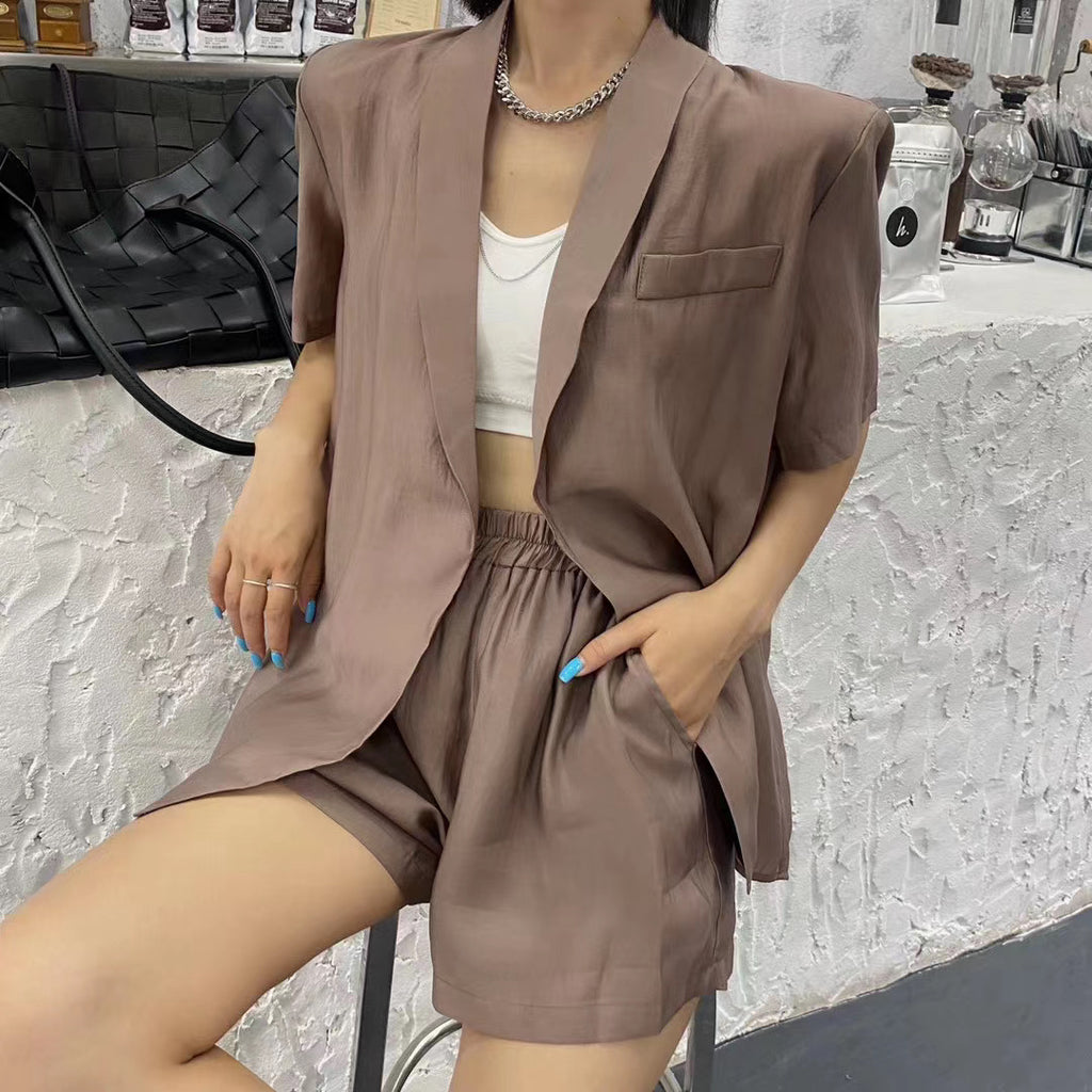 Causal Blazer Set 2Pcs-MARVOUS WEAR