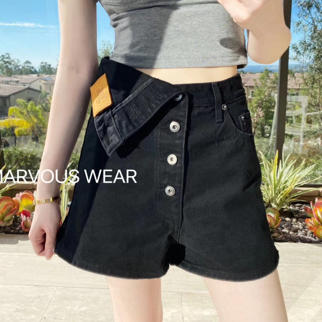 Asymmetric Flappy Shorts-MARVOUS WEAR