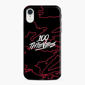 100 Thieves Of Irregular Thin Lines iPhone XR Case