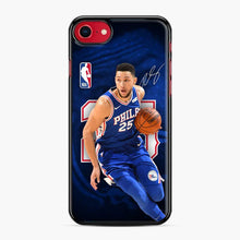 Load image into Gallery viewer, 25 Ben Simmons Philadelphia 76ers iPhone 7/8 Case, Black Plastic Case | Webluence.com