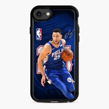 Load image into Gallery viewer, 25 Ben Simmons Philadelphia 76ers iPhone 7/8 Case, Black Rubber Case | Webluence.com