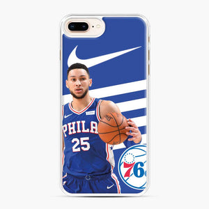 76ers Philadelphia Bensimmons iPhone 7 Plus/8 Plus Case, White Plastic Case | Webluence.com