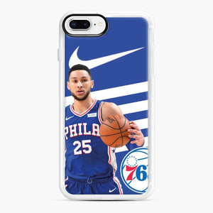 76ers Philadelphia Bensimmons iPhone 7 Plus/8 Plus Case, White Rubber Case | Webluence.com