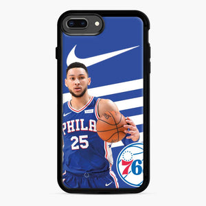 76ers Philadelphia Bensimmons iPhone 7 Plus/8 Plus Case, Black Rubber Case | Webluence.com