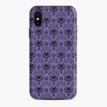 Load image into Gallery viewer, 999 Happy Haunts Pattren Purple Silhouette iPhone X/XS Case