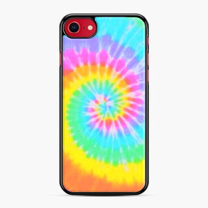 A Bright And Saturated Tie Dye Lock Screen iPhone 7/8 Case, Black Plastic Case | Webluence.com