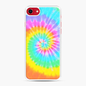 A Bright And Saturated Tie Dye Lock Screen iPhone 7/8 Case, White Plastic Case | Webluence.com