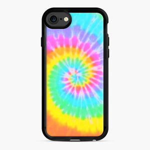 A Bright And Saturated Tie Dye Lock Screen iPhone 7/8 Case, Black Rubber Case | Webluence.com
