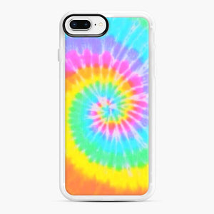 A Bright And Saturated Tie Dye Lock Screen iPhone 7 Plus/8 Plus Case, White Rubber Case | Webluence.com