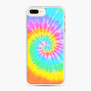 A Bright And Saturated Tie Dye Lock Screen iPhone 7 Plus/8 Plus Case, White Plastic Case | Webluence.com