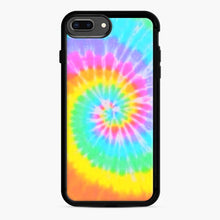 Load image into Gallery viewer, A Bright And Saturated Tie Dye Lock Screen iPhone 7 Plus/8 Plus Case, Black Rubber Case | Webluence.com