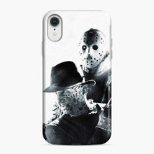 Load image into Gallery viewer, A Nightmare On Elm Street Freddy Krueger Vs Jason White Black iPhone XR Case