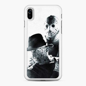 A Nightmare On Elm Street Freddy Krueger Vs Jason White Black iPhone XR Case