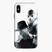 Load image into Gallery viewer, A Nightmare On Elm Street Freddy Krueger Vs Jason White Black iPhone X/XS Case