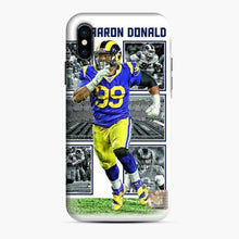 Load image into Gallery viewer, Aaron Donald Los Angeles Rams Collage iPhone X/XS Case
