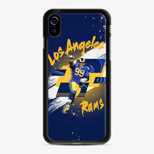 Load image into Gallery viewer, Aaron Donald Los Angeles Rams Jersey Yellow Blue iPhone XR Case