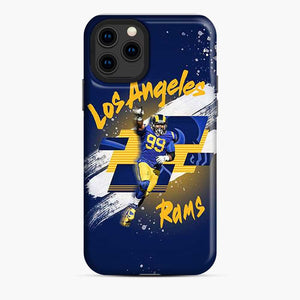 Aaron Donald Los Angeles Rams Jersey Yellow Blue iPhone 11 Pro Case