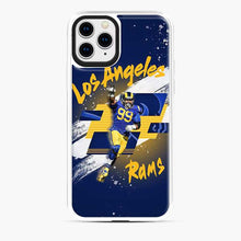 Load image into Gallery viewer, Aaron Donald Los Angeles Rams Jersey Yellow Blue iPhone 11 Pro Case