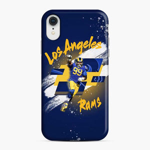 Aaron Donald Los Angeles Rams Jersey Yellow Blue iPhone XR Case