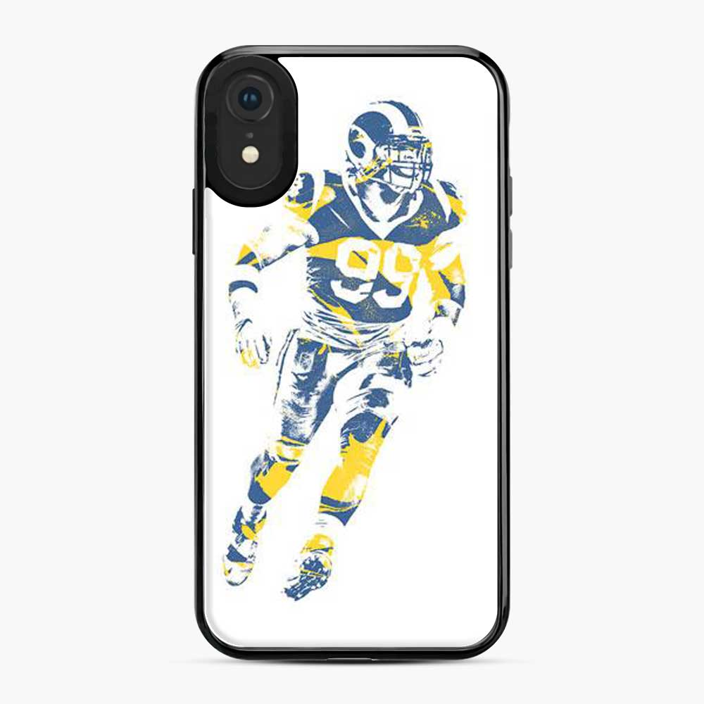 Aaron Donald Los Angeles Rams Sketch Art iPhone XR Case
