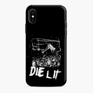 Abstract Die Lit Sketch iPhone X/XS Case