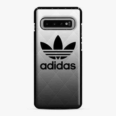 Adidas Black and White Samsung Galaxy S10 Case, Black Plastic Case | Webluence.com