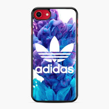 Load image into Gallery viewer, Adidas Blue X Purplee iPhone 7/8 Case, Black Plastic Case | Webluence.com