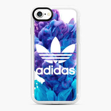 Load image into Gallery viewer, Adidas Blue X Purplee iPhone 7/8 Case, White Rubber Case | Webluence.com