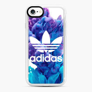 Adidas Blue X Purplee iPhone 7/8 Case, White Rubber Case | Webluence.com