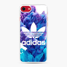 Load image into Gallery viewer, Adidas Blue X Purplee iPhone 7/8 Case, White Plastic Case | Webluence.com