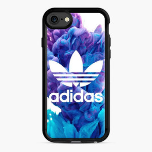 Adidas Blue X Purplee iPhone 7/8 Case, Black Rubber Case | Webluence.com