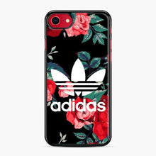 Load image into Gallery viewer, Adidas Floral wallpaper iPhone 7/8 Case, Black Plastic Case | Webluence.com