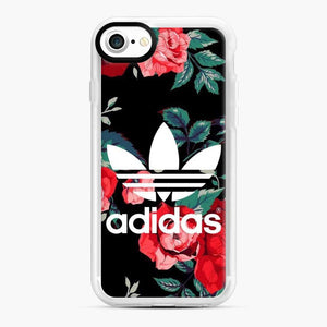 Adidas Floral wallpaper iPhone 7/8 Case, White Rubber Case | Webluence.com