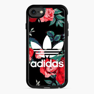 Adidas Floral wallpaper iPhone 7/8 Case, Black Rubber Case | Webluence.com