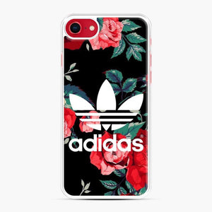 Adidas Floral wallpaper iPhone 7/8 Case, White Plastic Case | Webluence.com