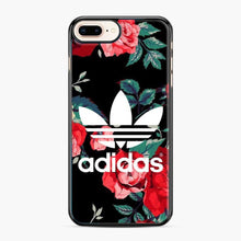 Load image into Gallery viewer, Adidas Floral wallpaper iPhone 7 Plus/8 Plus Case, Black Plastic Case | Webluence.com
