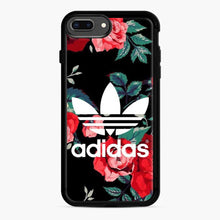 Load image into Gallery viewer, Adidas Floral wallpaper iPhone 7 Plus/8 Plus Case, Black Rubber Case | Webluence.com
