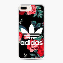 Load image into Gallery viewer, Adidas Floral wallpaper iPhone 7 Plus/8 Plus Case, White Plastic Case | Webluence.com