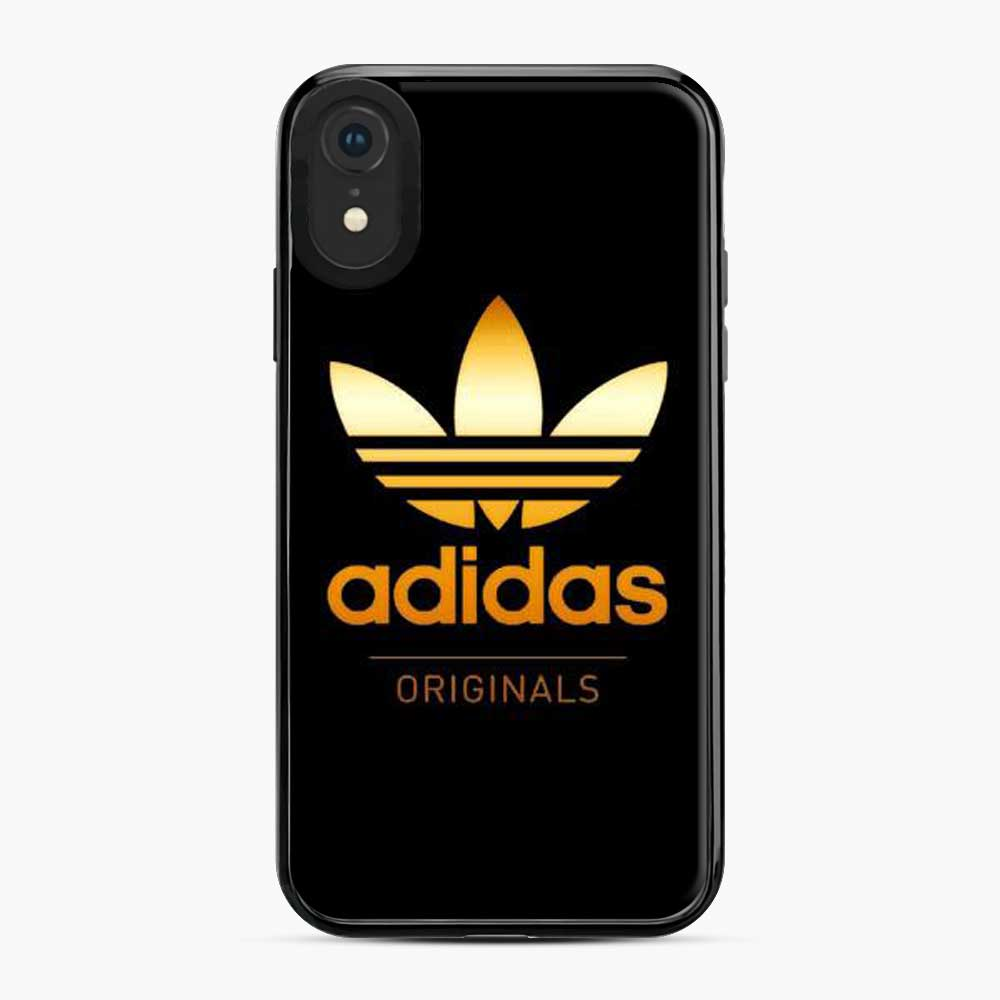 Adidas Gold Black Gold Original Logo iPhone XR Case